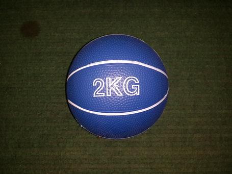 Медбол резиновый 2 кг (наполнитель песок), фото 2