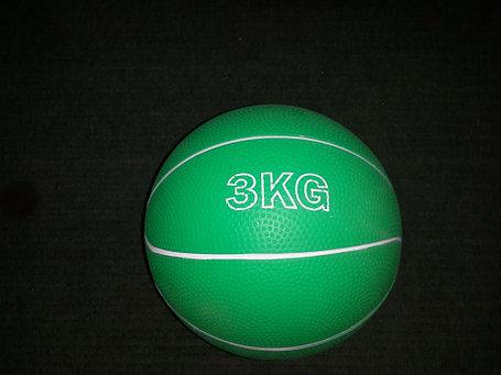 Медбол резиновый 3 кг (наполнитель песок), фото 2