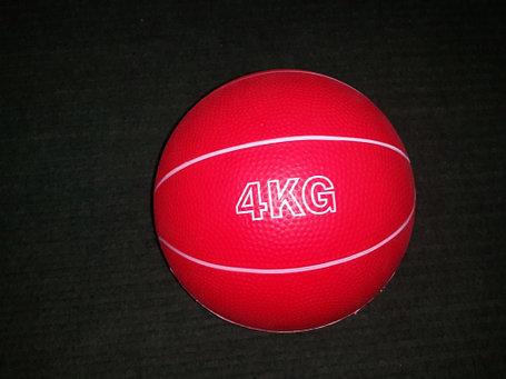 Медбол резиновый 4 кг (наполнитель песок), фото 2