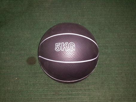 Медбол резиновый 5 кг (наполнитель песок), фото 2