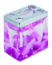 Подставка Аквалиния для зубных щеток фиолетовые лепестки