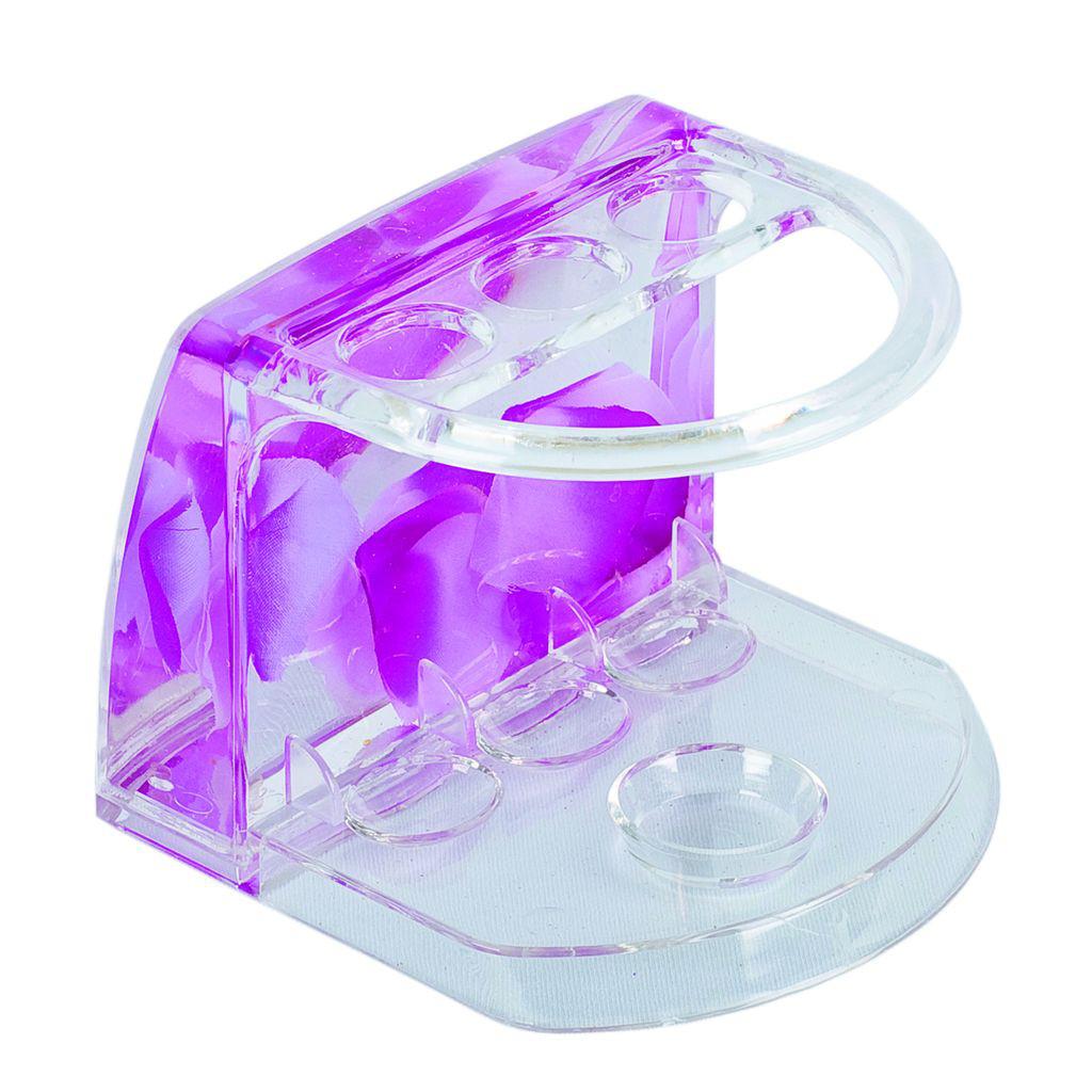 Подставка Аквалиния для зубных щеток маленькие фиолетовые лепестки