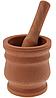 Ступка с пестиком, пластиковая, коричневая, 250 мл