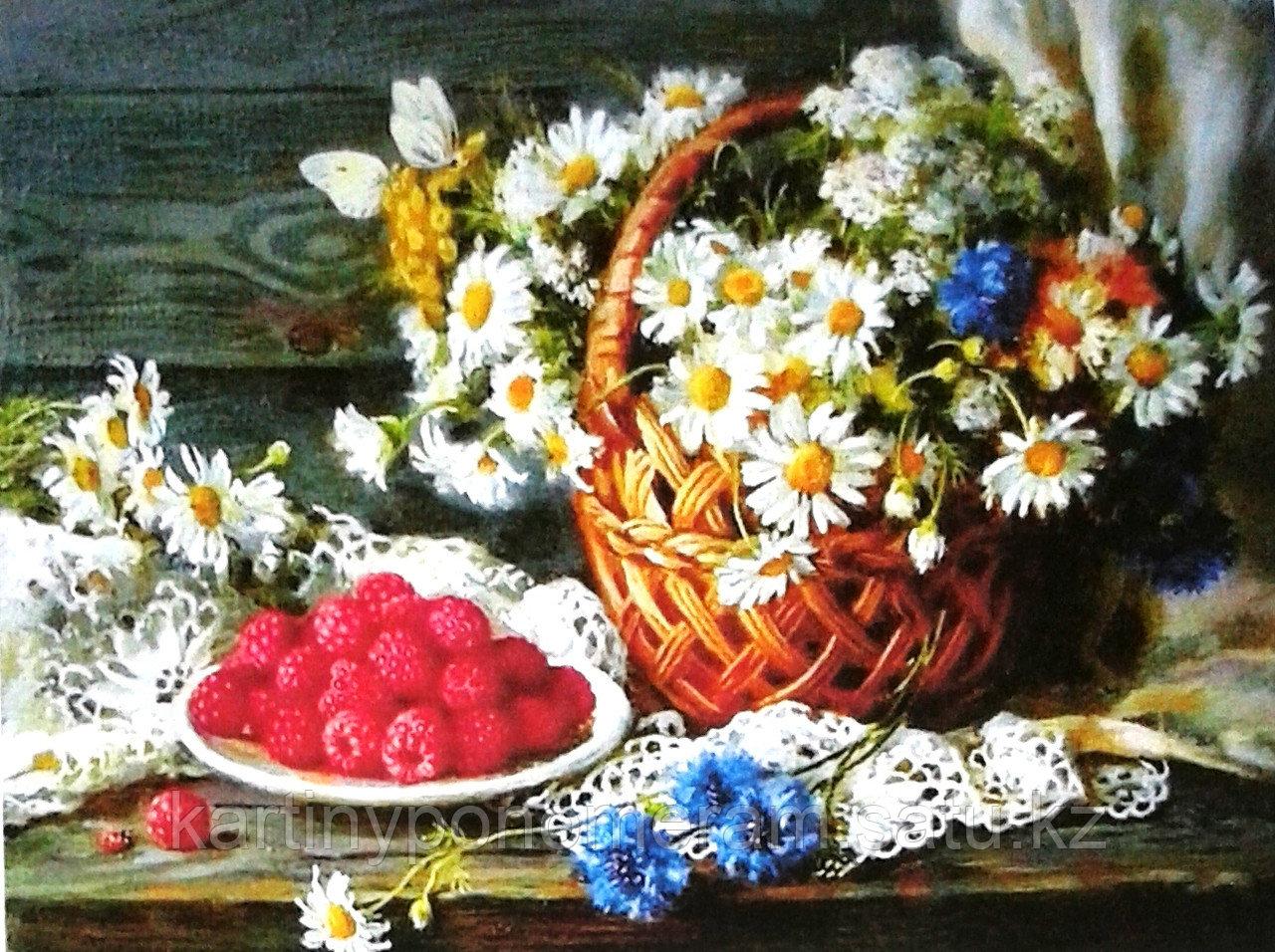 "Картина по номерам ""Цветы и малина"""