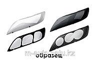 Защита фар (очки) на Hyundai Santa Fe 2005 - 2009\темные,прозрачные