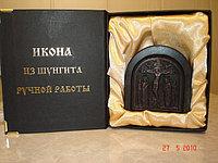 Икона «Распятие» ручной работы из Шунгита
