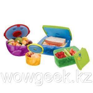 Контейнеры для еды с аккумулятором холода в крышке