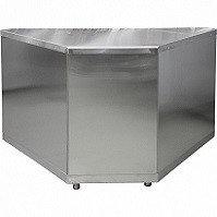 Стол нейтральный поворотный внутренний Лира-Профи Эко СН90-В/ЛПЭ (1468х705х870мм, оцинк.сталь)