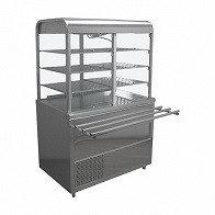 Стол охлаждаемый с витриной Лира-Профи СОЭП-В/ЛП-1500 (1500х705(1030)х1700(1720)мм, нерж.сталь,220В)