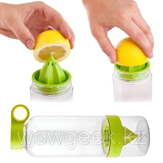 Многофункциональная бутылочка с соковыжималкой Citrus Zinger