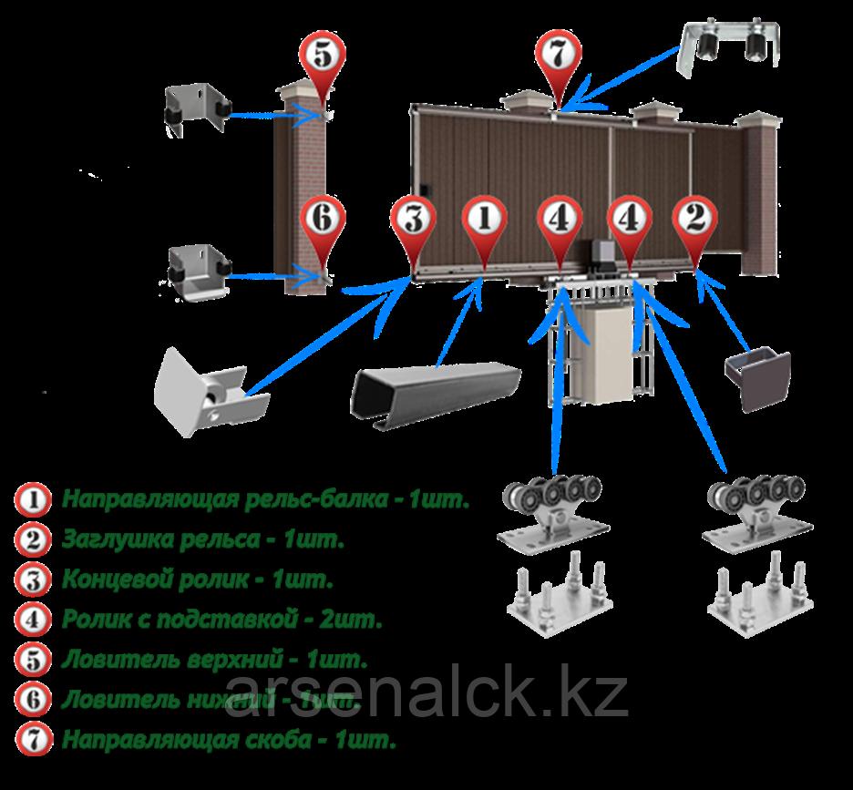 Система откатных самонесущих ворот ЭКО