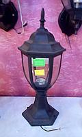 Фонарь уличный на столб под старину (Черный)