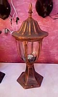 Фонарь уличный на столб под старину (Античный медный цвет)