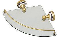 Полка Fixsen Bogema Gold FX-78503AG стеклянная угловая
