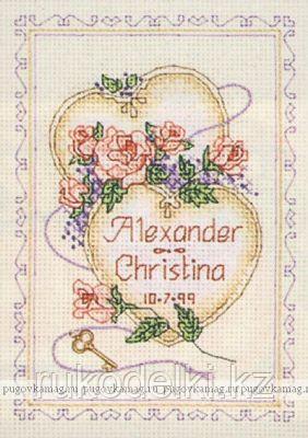 """Набор для вышивания крестом """"Поздравление к свадьбе"""""""