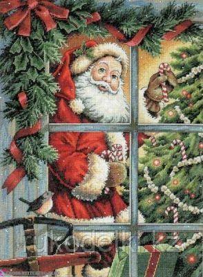 """Набор для вышивания крестом """"Санта и леденец"""""""