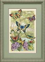 """Набор для вышивания крестом """"Лес бабочек"""""""