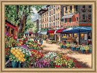 """Набор для вышивания крестом """"Рынок в Париже"""""""
