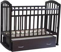 Детская кроватка Антел Алита-4 (махагон), фото 1