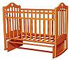 Детская кроватка Антел Каролина-3 (орех)