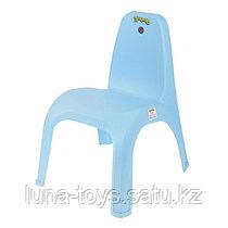 Детский стульчик, высота до сиденья 29 см, цвет голубой
