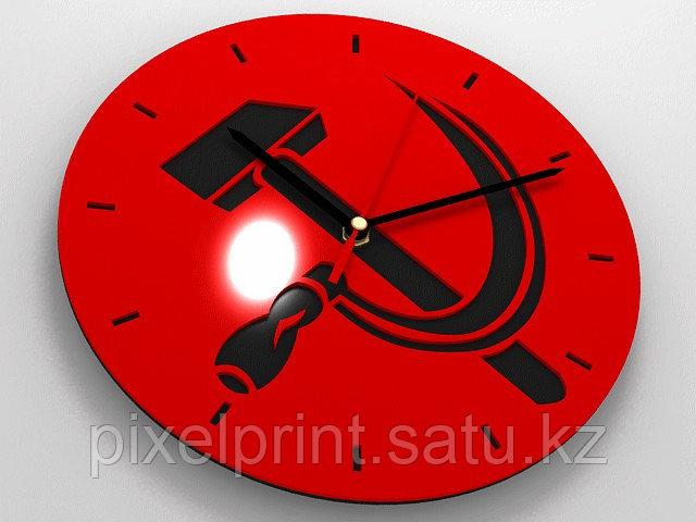 Настенные часы с фото или лого