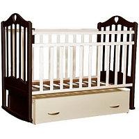 Детская кроватка Антел Каролина-4 (венге-слоновая кость), фото 1