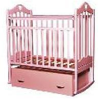 Детская кроватка Антел Каролина-4 (розовый), фото 1