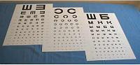 Таблица Сивцева (буквы), таблица Головина (кольца Ландольта), Тип - Ш
