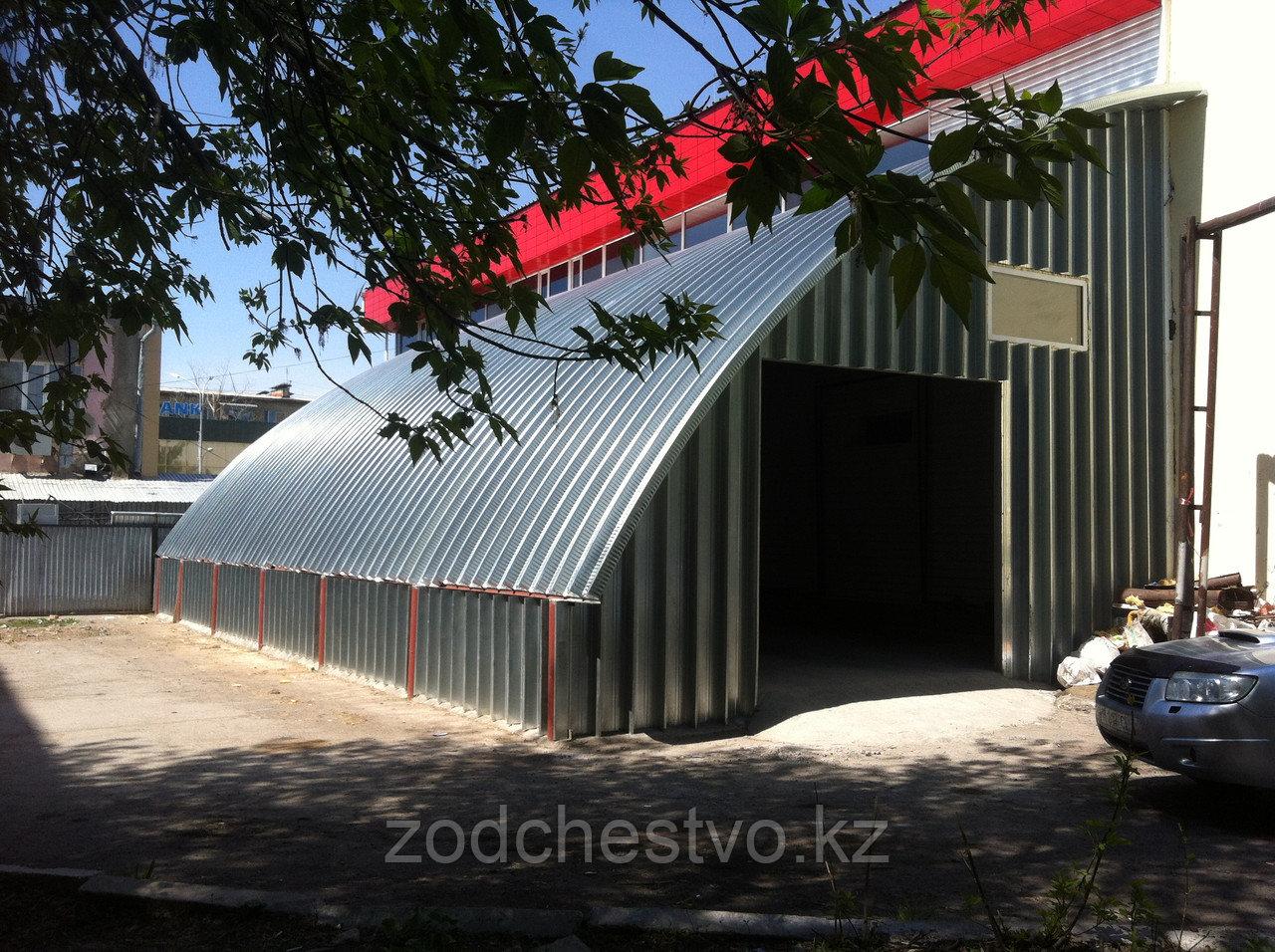 Строительство складского помещения пристройки к существующему зданию