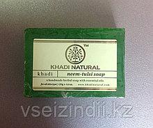 Натуральное мыло Ним Тулси Кхади (Khadi Neem Tulsi soap)