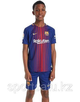Барселона футбольная форма детская 2017-18 домашняя (майка+шорты)