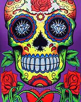 Футболка Sugar Skull (Светится в темноте и ультрафиолете)