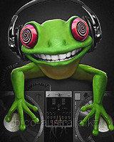 Футболка Crazy Frog (Светится в темноте и ультрафиолете)