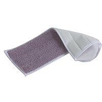 Тряпка для швабры из микрофибры мягкая, белаяMicrofiber Grey Strips Mop 40cm, with Pocket+Flap