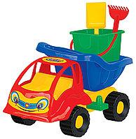 """Набор №56: """"Муравей"""", автомобиль-самосвал + ведро-крепость малое, лопатка малая №3, грабельки малые , фото 1"""