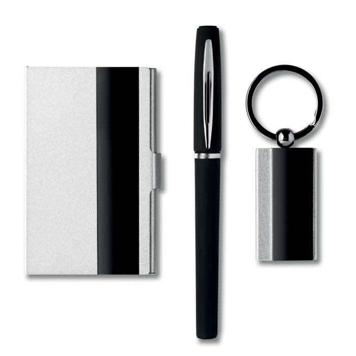 Подарочный набор: ручка, брелок и визитница