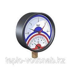 Термоманометр с боковым подключением D80mm, 4bar, 120*C WATTS (Германия), фото 2