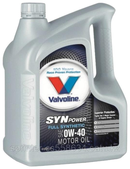 Моторное масло Valvoline SynPower 0W40 4 литра