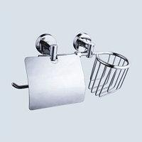 Держатель для туалетной бумаги с корзиной Аквалиния 881045, (4680018340297)