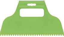 Шпатель для клея пластмассовый 4х4 мм зубчатый Сибртех 86014 (002)