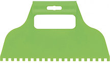 Шпатель для клея пластмассовый 6х6 мм зубчатый Сибртех 86015 (002)