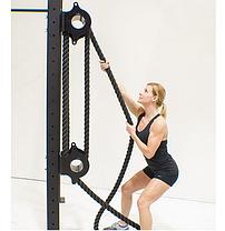 Канат для кроссфита 15 метров 38 мм. крученный, фото 2