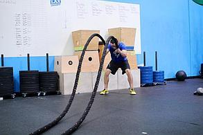 Канат для кроссфита 15 метров 38 мм. крученный, фото 3