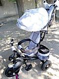 Детский трехколесный велосипед с поворотным сиденьем (6188), фото 7