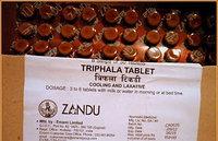 Трифала Занду/Triphala, ZANDU, очищение кишечника, 30 таблеток