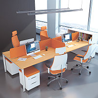 Стол совмещённый Workbench на 4х сотрудников, фото 1