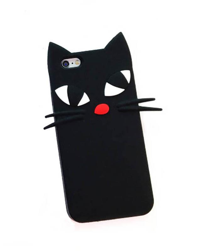 Силиконовый чехол в виде милой кошки для iPhone 7