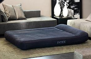 Черный надувной матрас Intex 66769 с подголовником, фото 2