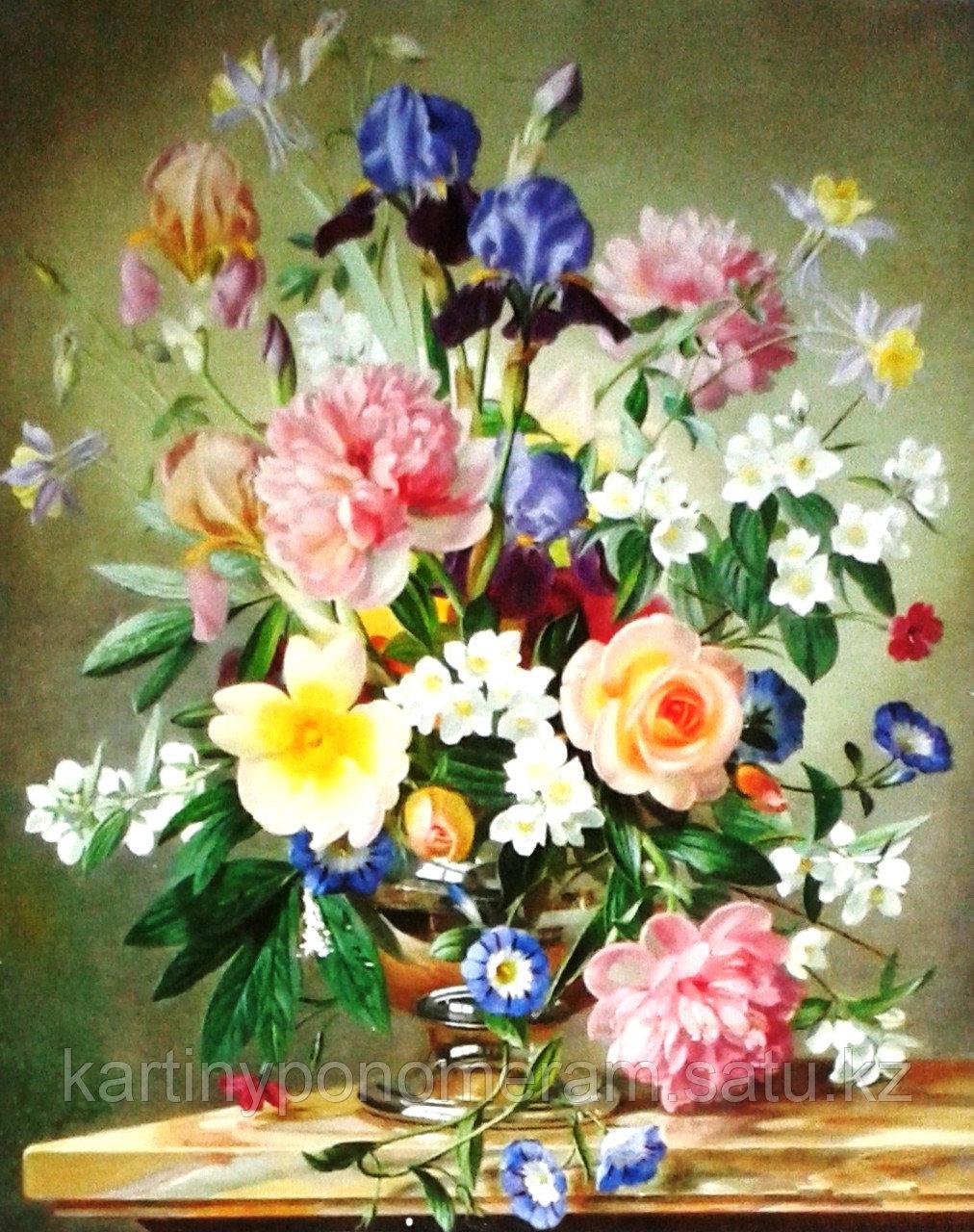 """Картина по номерам """"Ваза с весенними цветами"""""""